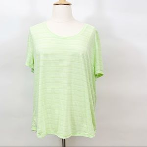 T by Talbots Short Sleeve Tee In Pale Mint - 3X